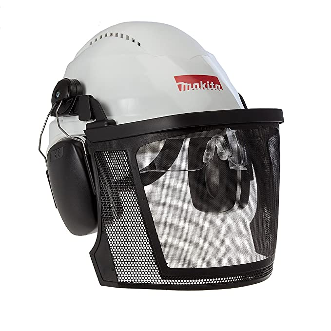 Makita p-54140 casco de seguridad con visera, multicolor