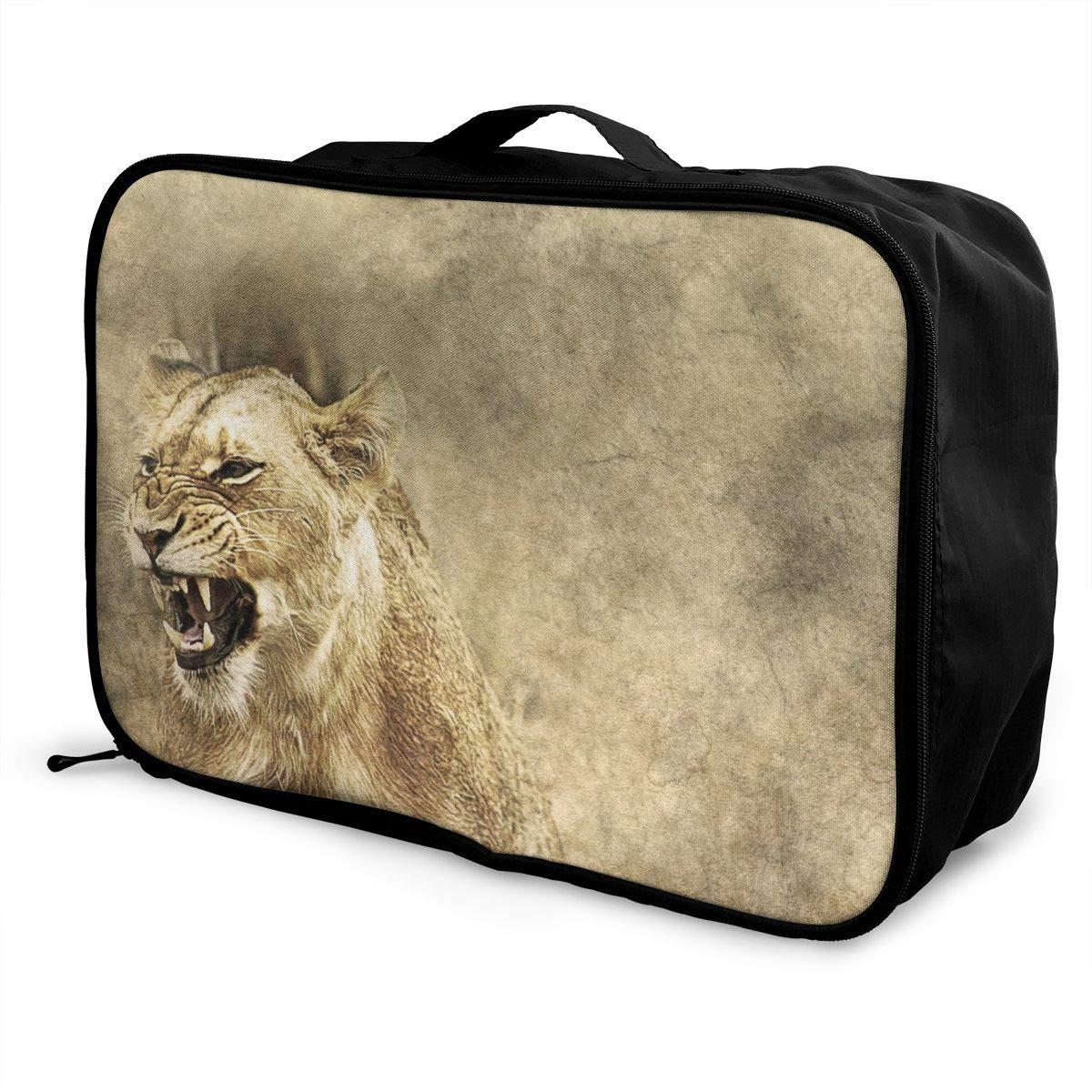 Creative Animal Texture Forest Travel Lightweight Waterproof Foldable Storage Carry Luggage Large Capacity Portable Luggage Bag Duffel Bag