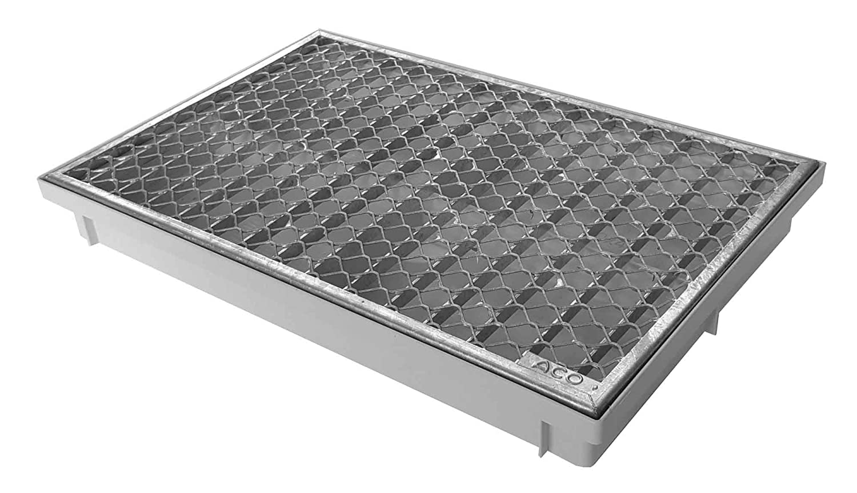 ACO 600x400 Streckmetallrost mit Bodenwanne Vario Light Schuhabtreter Fußmatte Abtreter
