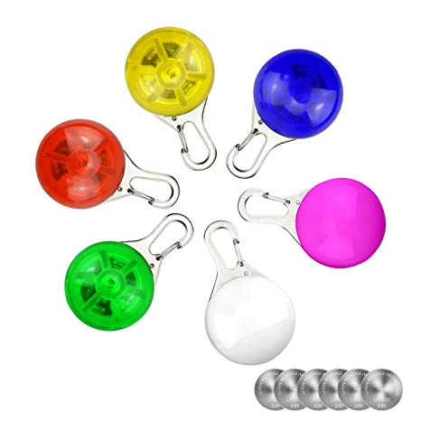 Amazon.com: 6 Pack impermeable SpotLit perro/gato collar Luz ...