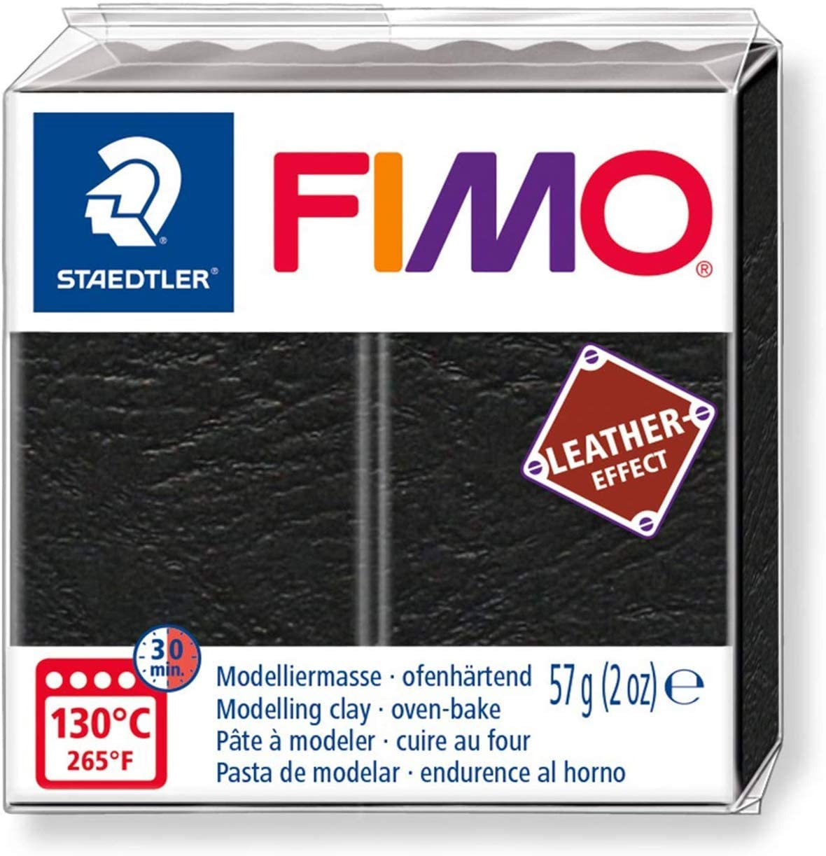 57g Staedtler Fimo Leather Effect Polymer Oven Modelling Clay Pack of 11 1 of Each Colour
