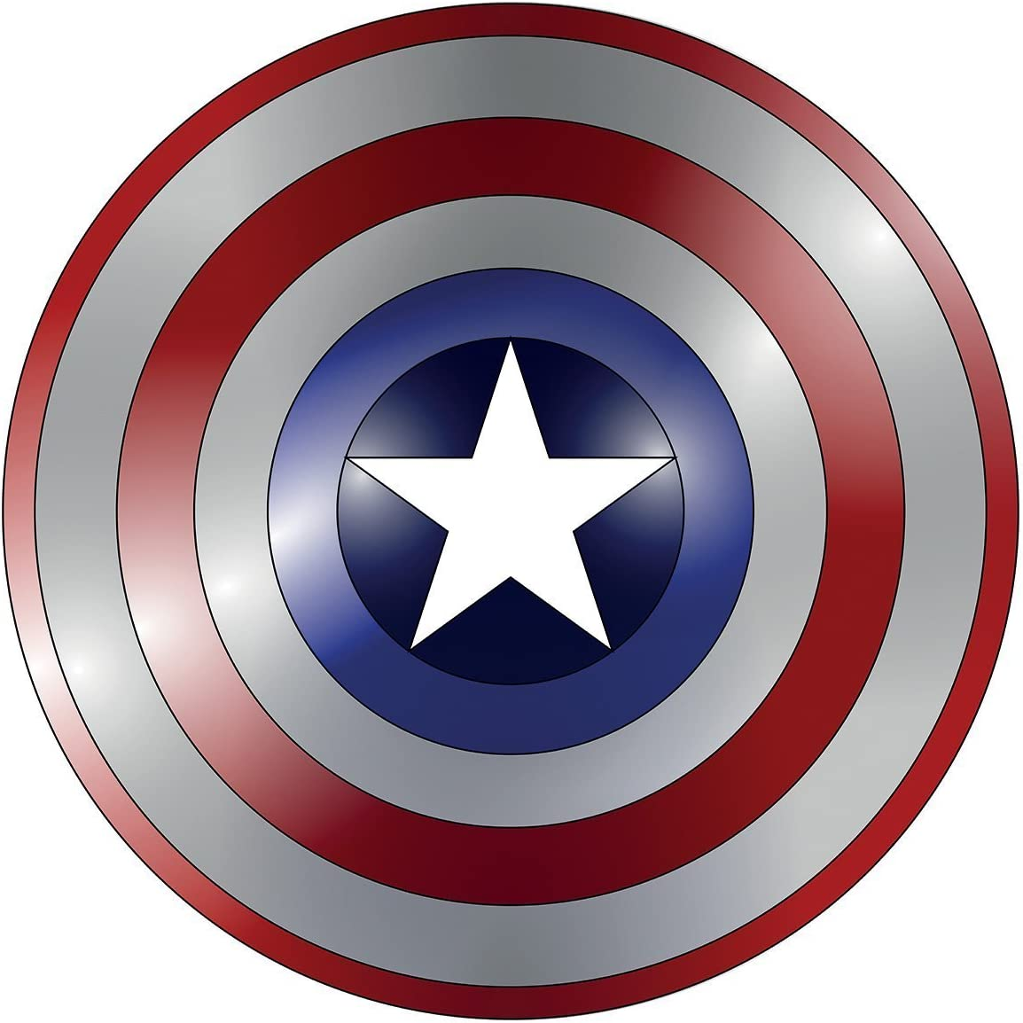 MARVELS CAPTAIN AMERICA SHIELD  VINYL WALL STICKER VARIOUS SIZES