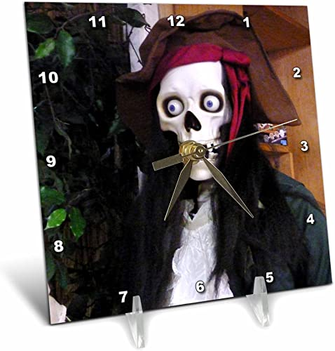 3dRose dc_24614_1 Was a Pirate Desk Clock, 6 by 6-Inch