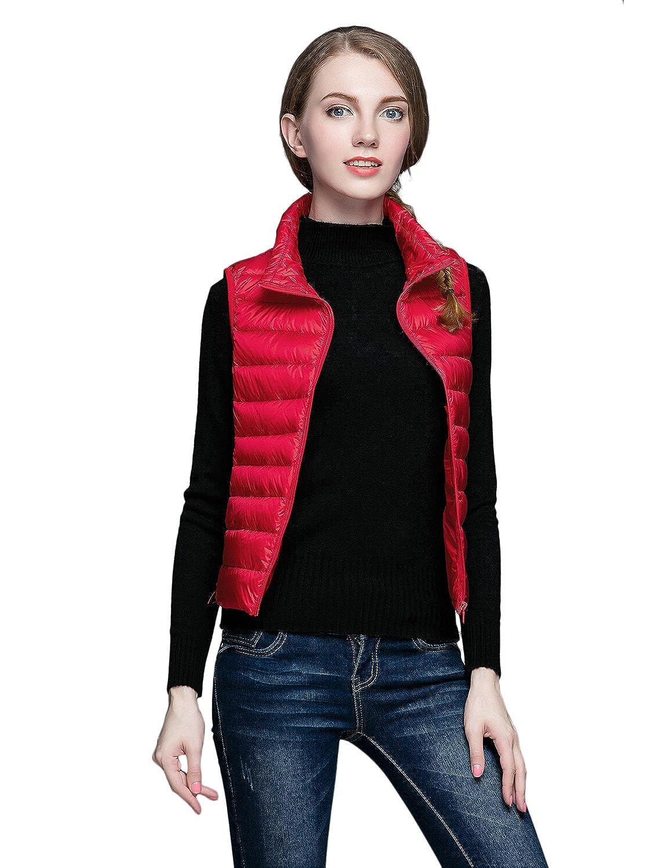 Belloo Damen Outdoor Weste leicht zusammenklappbar Daunenweste,8 Farbe