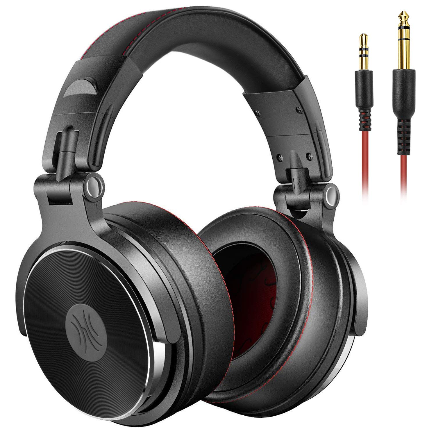 OneOdio Adapter-Free DJ Headphones for Studio Monitoring and Mixing,Sound Isolation, 90° Rotatable Housing with Top Protein Leather Earcups, 50mm Driver Unit Over Ear DJ Headsets with Mic-PRO 50