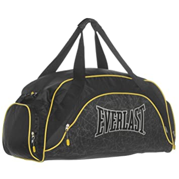 38908d139d Everlast Curved Holdall Black Yellow Carryall Bag Kitbag Gymbag H  42cm  W