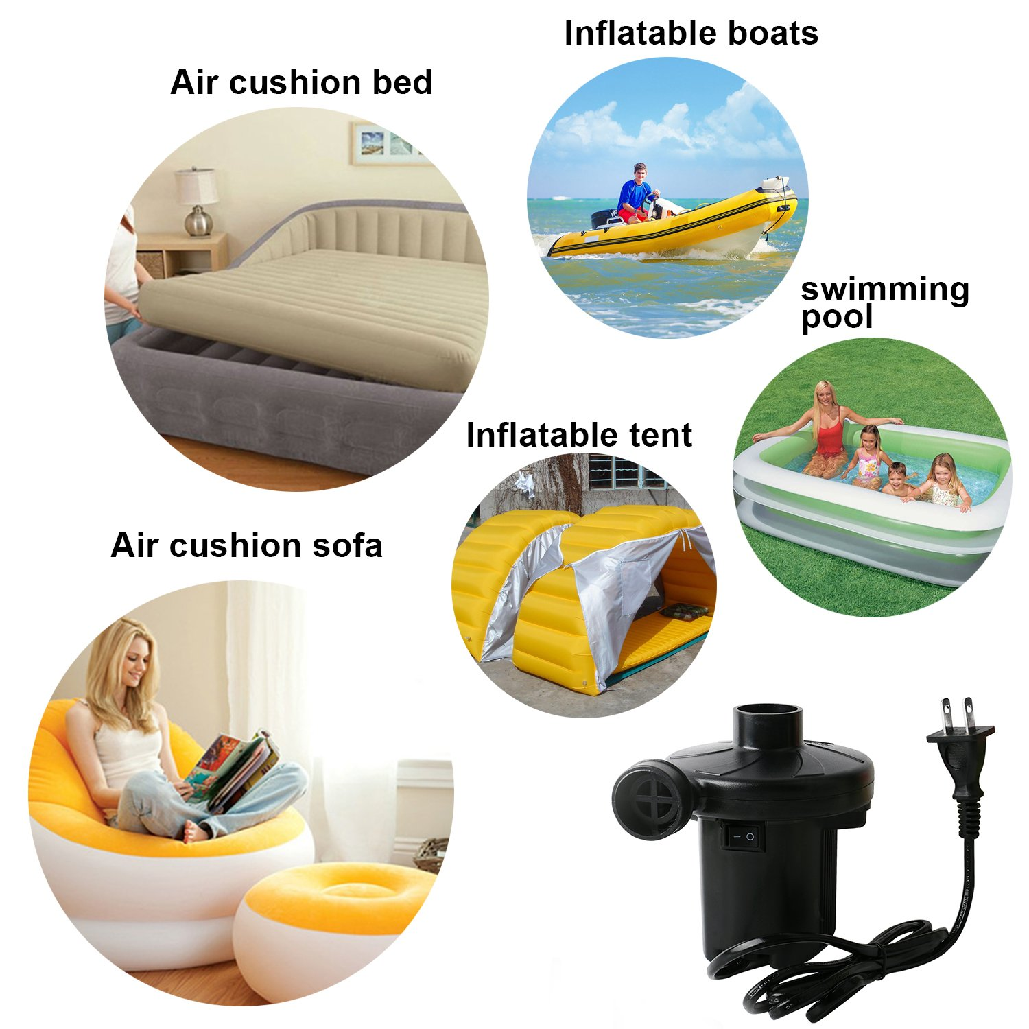 amazon com okpow quick fill electric air pump for inflatables air