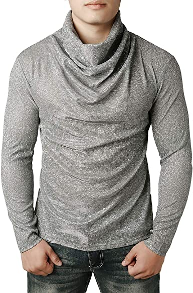Bravoy Slim Fit - Jersey térmico de Cuello Alto para Hombre, Manga ...