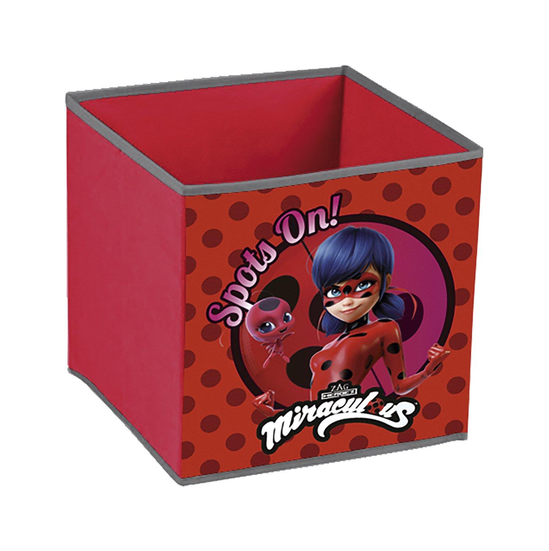 Ladybug -Cubo contenedor pongotodo guardajuguete Nickelodeon LB12121
