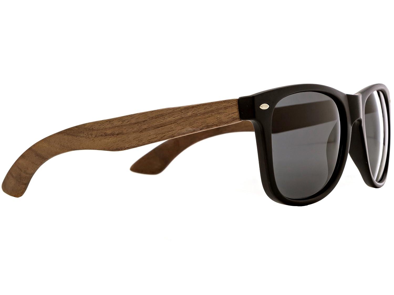 Walnussholz Wayfarer Sonnenbrille Herren und Damen Polarisiert mit ...