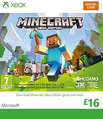 Xbox Live £16 Gift Card: Minecraft for Xbox [Xbox Live Online Code