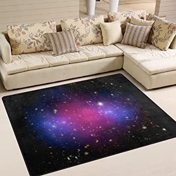 Amazon.com : IMOBABY Triangulum Galaxy Outer Space Area Rugs for ...