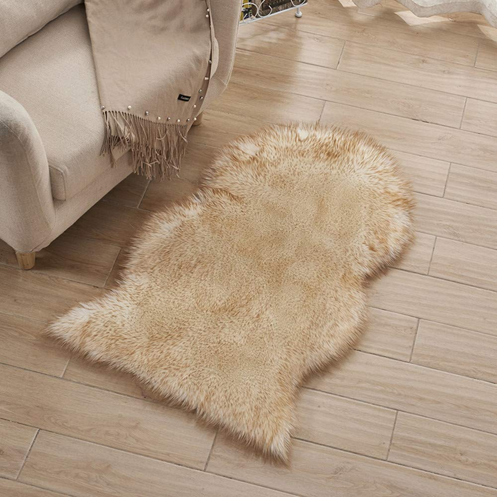 morbido e soffice KIM88 in finta pelliccia Tappeto antiscivolo multicolore ideale per decorare la casa e la camera da letto
