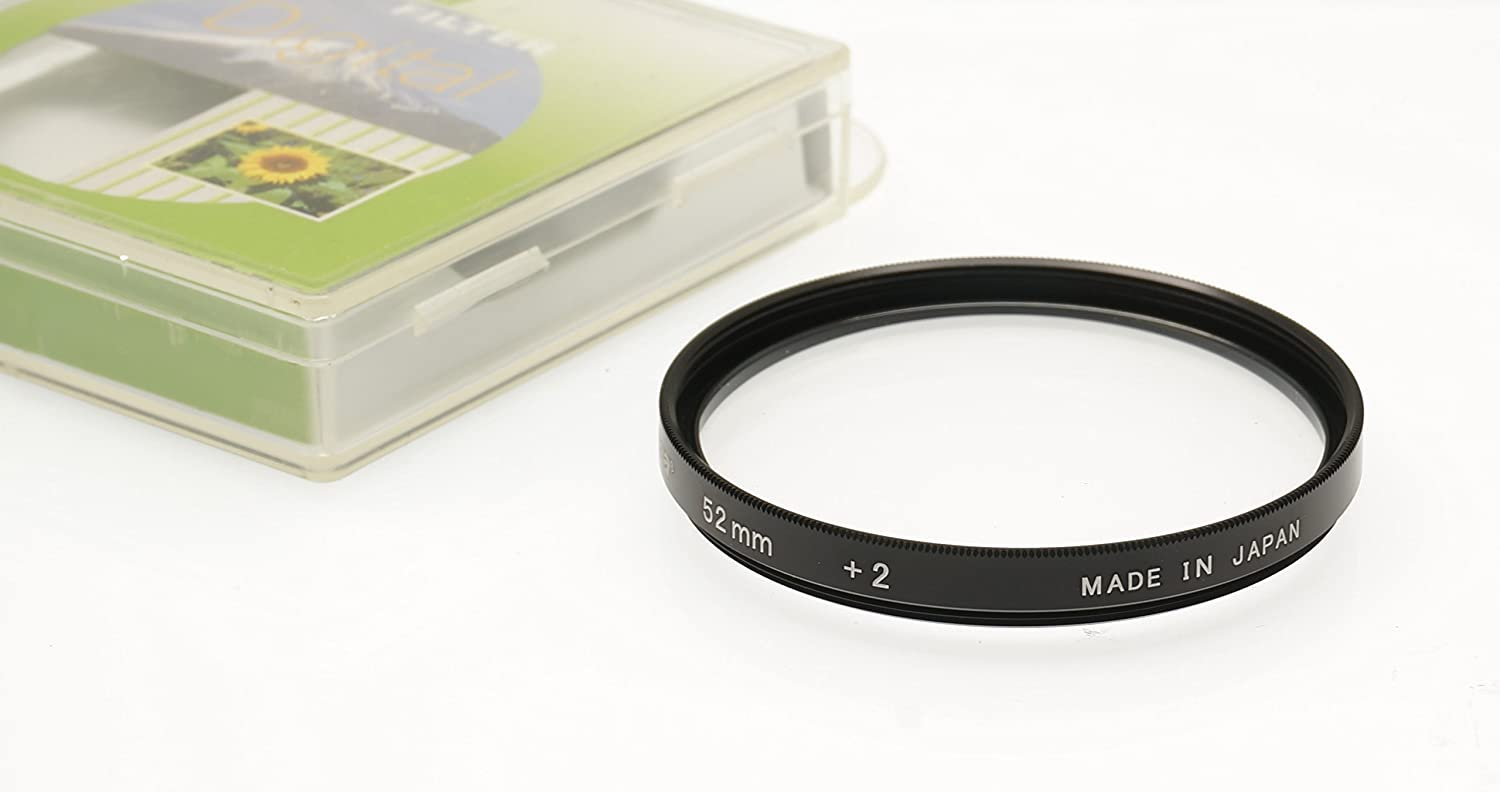 2 Close up Lens//Filter for Canon EF-M 55-200mm f//4.5-6.3 IS STM Fujiyama 52mm Diopter