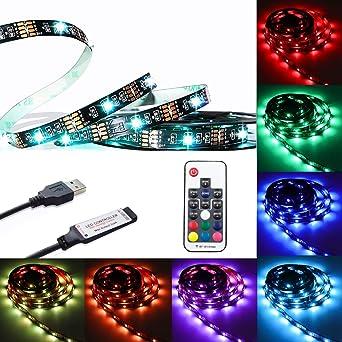 Tiras de luz LED RGB: Amazon.es: Iluminación