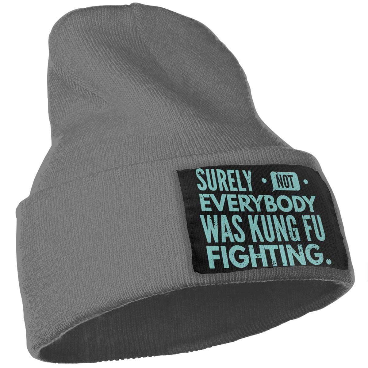 Surely Not Everybody was Kung Fu Fighting Warm Skull Cap Mens Womens 100/% Acrylic Knit Hat Cap