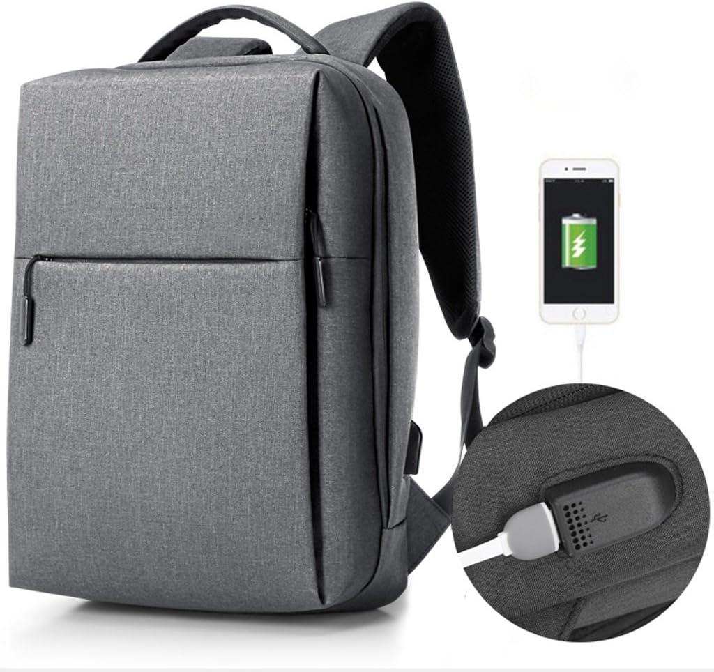 MKJYDM Backpack Male Leisure Multifunctional Mens Business Computer Bag Briefcase Color : Gray