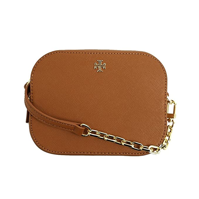 4e21dbac35b3e Tory Burch Robinson Round Cross-Body Luggage Saffiano Leather Gold-Tone  Hardware Bag  Amazon.ca  Clothing   Accessories