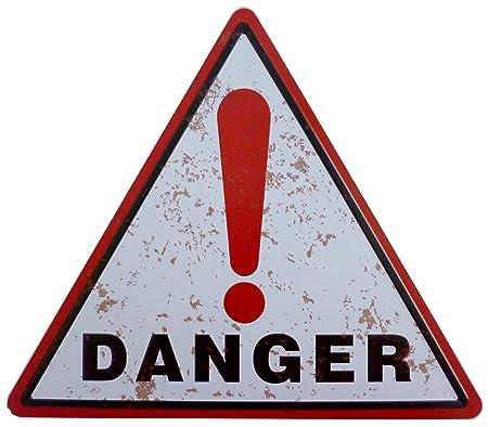 Cartel de chapa 34 x 30 cm - Danger Peligro Advertencia ...