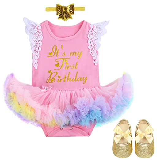 133a662acfa4 Image Unavailable. Image not available for. Color  Newborn Baby Girl It s  My 1st Birthday ...