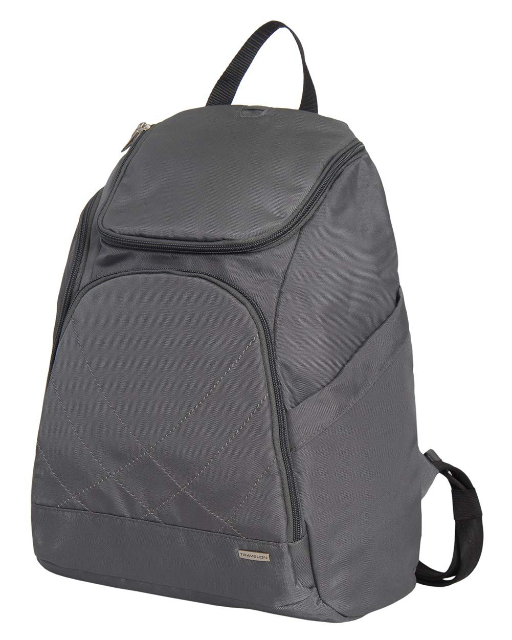 Travelon Anti Theft Classic Backpack (DARK GREY W/TEAL LINING) by Travelon