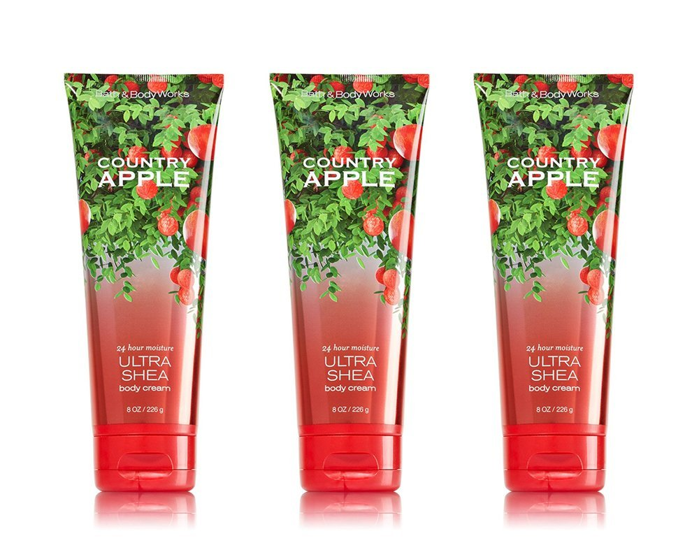 Bath & Body Works Ultra Shea Cream Country Apple (3 Pack)
