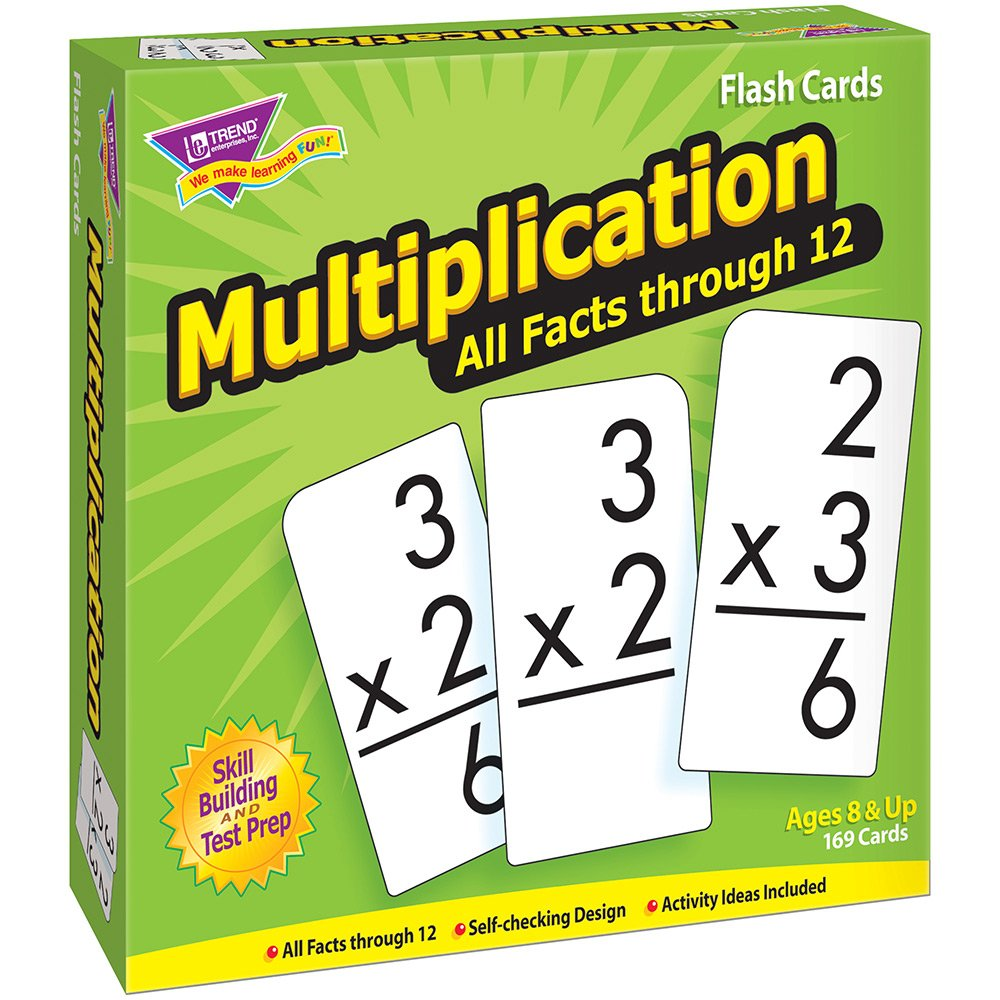 B0007WXPHQ Trend Enterprises Multiplication 0-12 Flash Cards (All Facts) 71nT76WGEOL