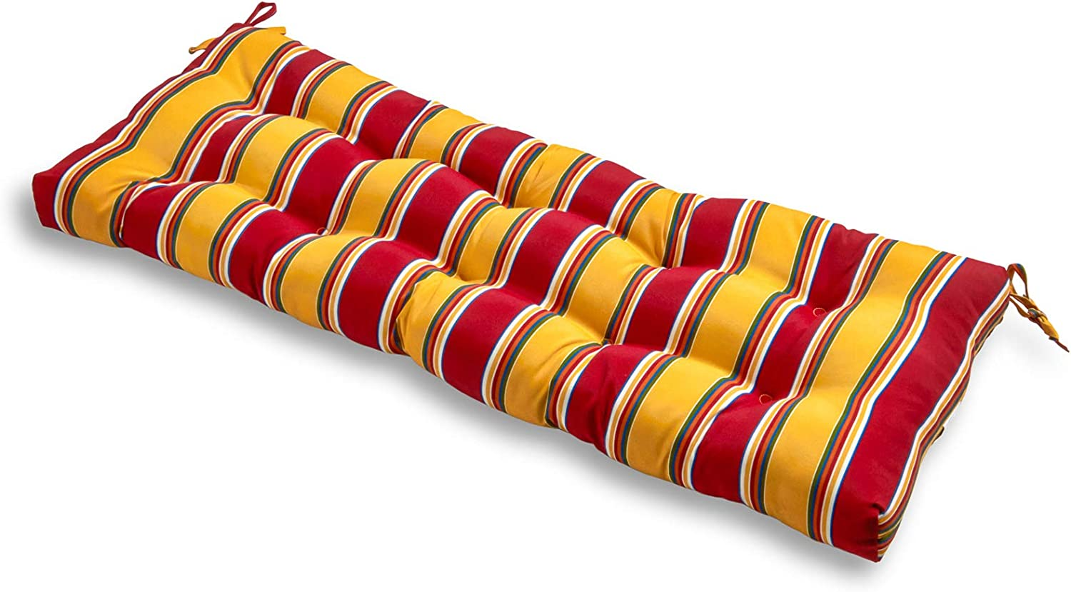 South Pine Porch AM4805-CARNIVAL Carnival Stripe 44-inch Outdoor Swing/Bench Cushion