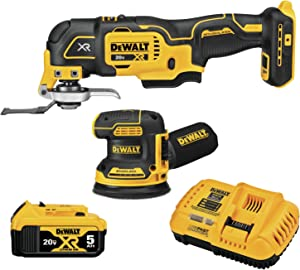 DEWALT 20V MAX XR Sander & Multi-Tool, Woodworking Kit, 2-Tool (DCK202P1)
