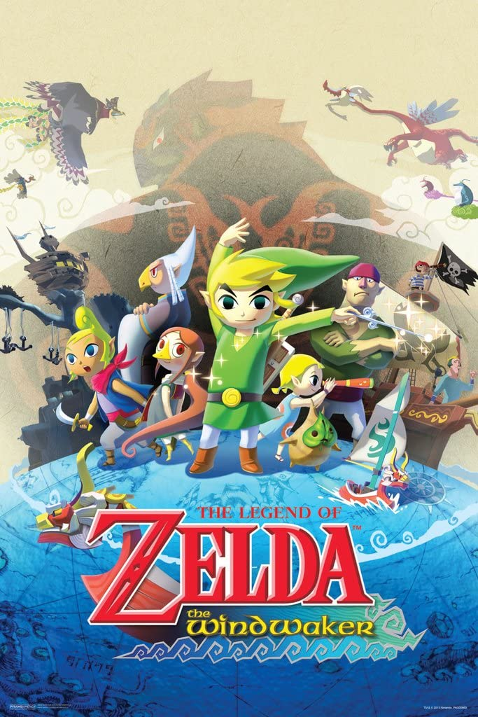 Pyramid America The Legend of Zelda Wind Waker Nintendo Action Adventure Video Game Series Gamecube Cool Wall Decor Art Print Poster 12x18