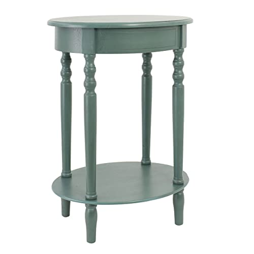 D cor Therapy Simplify Oval Accent Table, Antique Teal