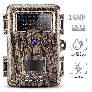 """CampFENSE Cámaras de Caza 16MP 1080P 2.4"""" LCD, IP67 a Prueba de Agua,"""