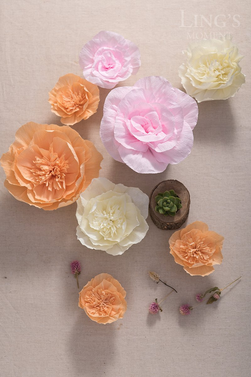 Amazon Lings Moment Crepe Paper Flowers 8 X Large Paper