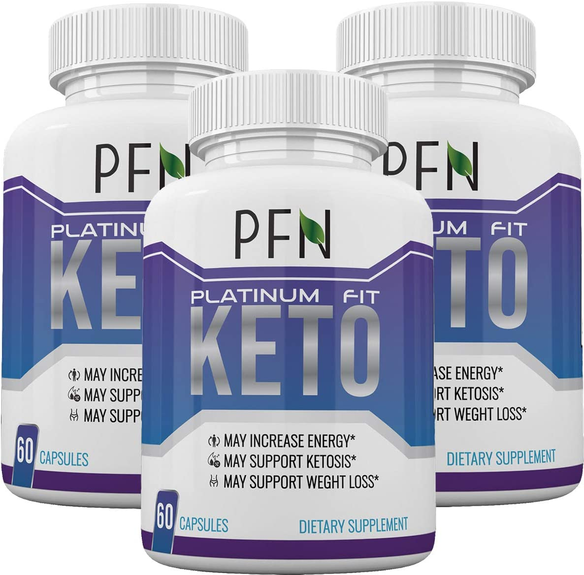 Platinum Fit Keto – PFN – Advanced Weight Loss with Metobolic Ketosis Support – 180 Capsules – 3 Month Supply