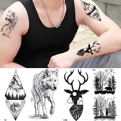 MRKAL Tatuajes Temporales Falso Tatuaje Temporal Impermeable ...