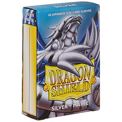 Sleeves: Dragon Shield Matte Japanese Silver (60): Toys & Games