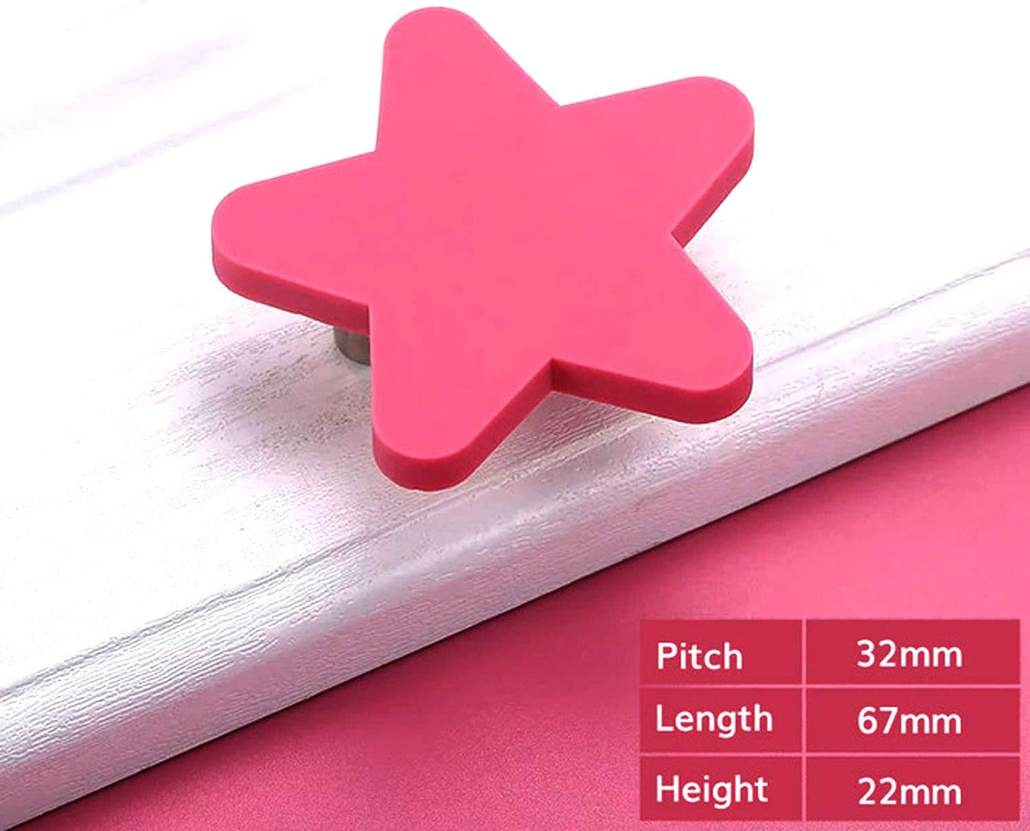 SAISN Kids Dresser Knobs for Bedroom Cute Drawer Knobs Cabinet Pulls and Knobs with Safety Soft Rubber S-Pink Flower, 2 Pack