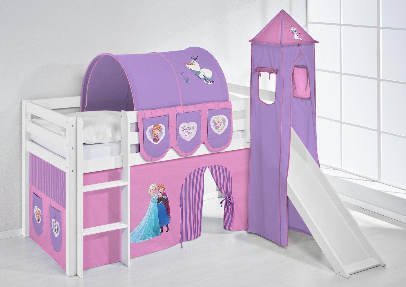 Faszinierend Kinderbett Mit Rutsche Dekoration Von Lilokids Spielbett Jelle Eiskönigin, Hochbett Turm, Und