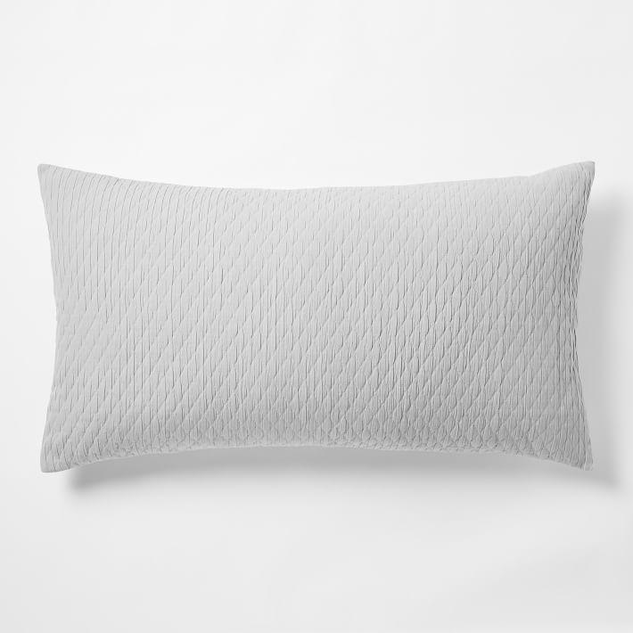 Ripple Texture Shams - Platinum | west elm