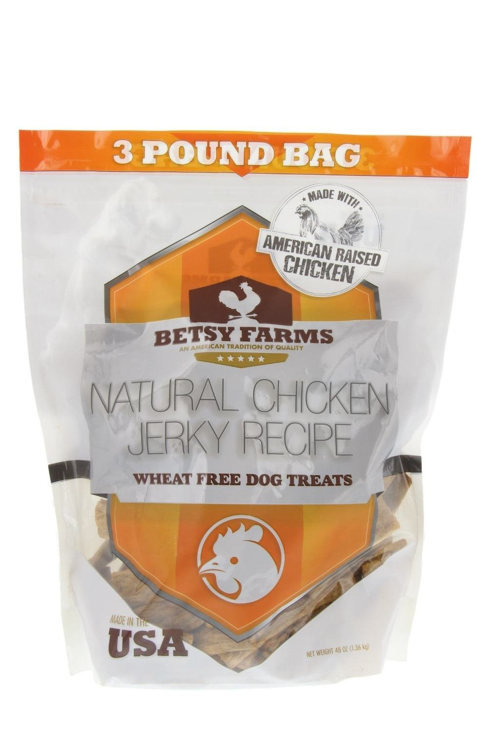 Betsy Farms Natural Jerky Recipe Dog Treats - Chicken Jerky Dog Treats, 48 oz