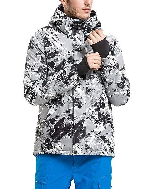 Men s Mountain Waterproof Ski Jacket Snowsuit Windproof Rain Snow Coat  Insulated Suit Winter Warm Outdoor Outwear 3c3907c58
