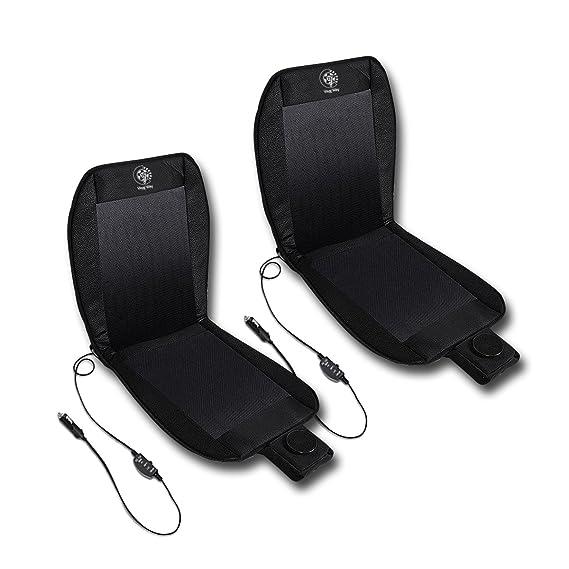 Amazon.com: VaygWay Car Heated Seat Cover Cushion Hot Warmer - 2-Piece Set 12V Heating Warmer Pad Hot Gray Cover: Automotive