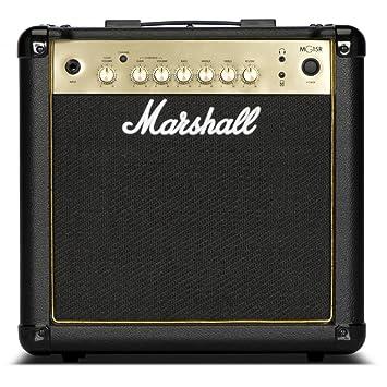 Marshall MG15GR - 15W negro y dorado Combo Guitarra con/Muelle Reverb