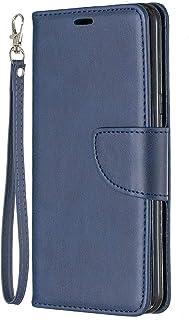 Lomogo LG G8 / G8S ThinQ Hülle Leder, Schutzhülle Brieftasche mit Kartenfach Klappbar Magnetverschluss Stoßfest Kratzfest Handyhülle Case für LG G8/G8S - LOBFE150443 Blau