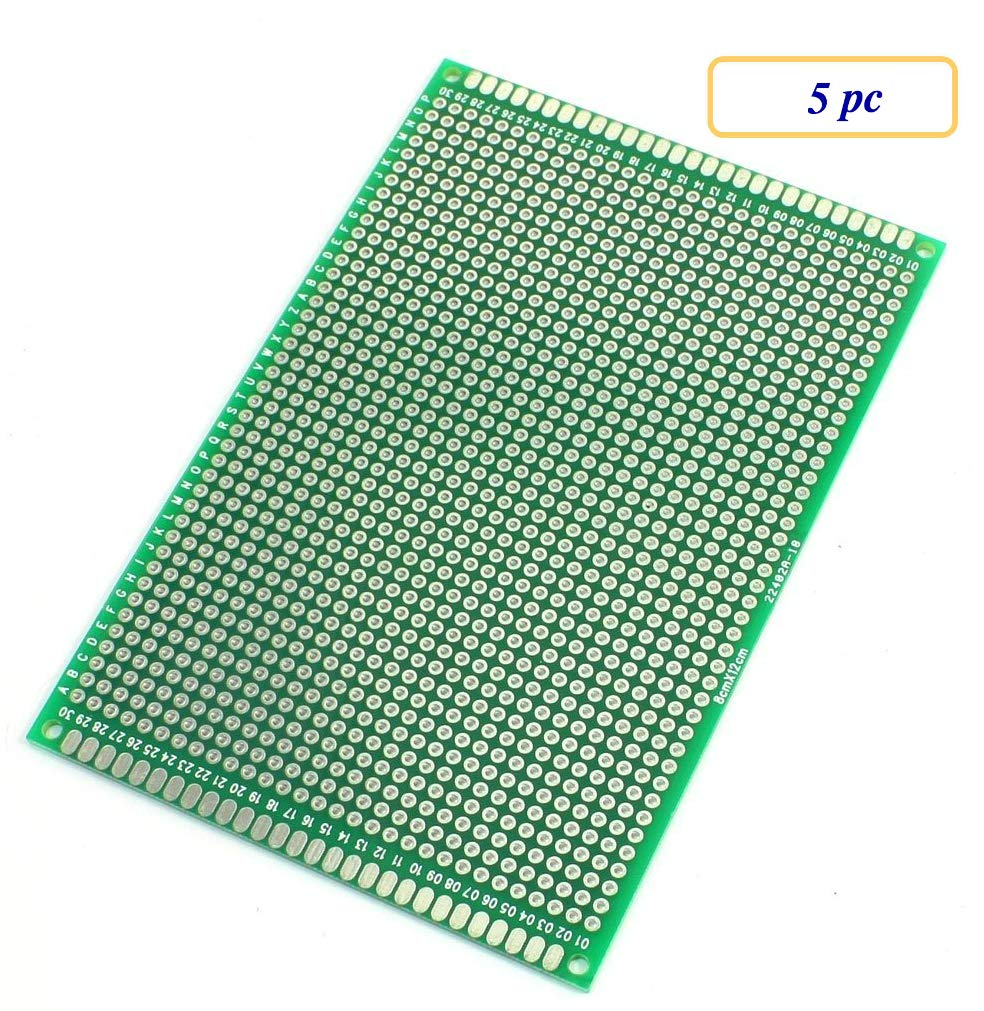 5 pc Double Sided Protoboard Prototyping PCB Board 8cm x 12cm