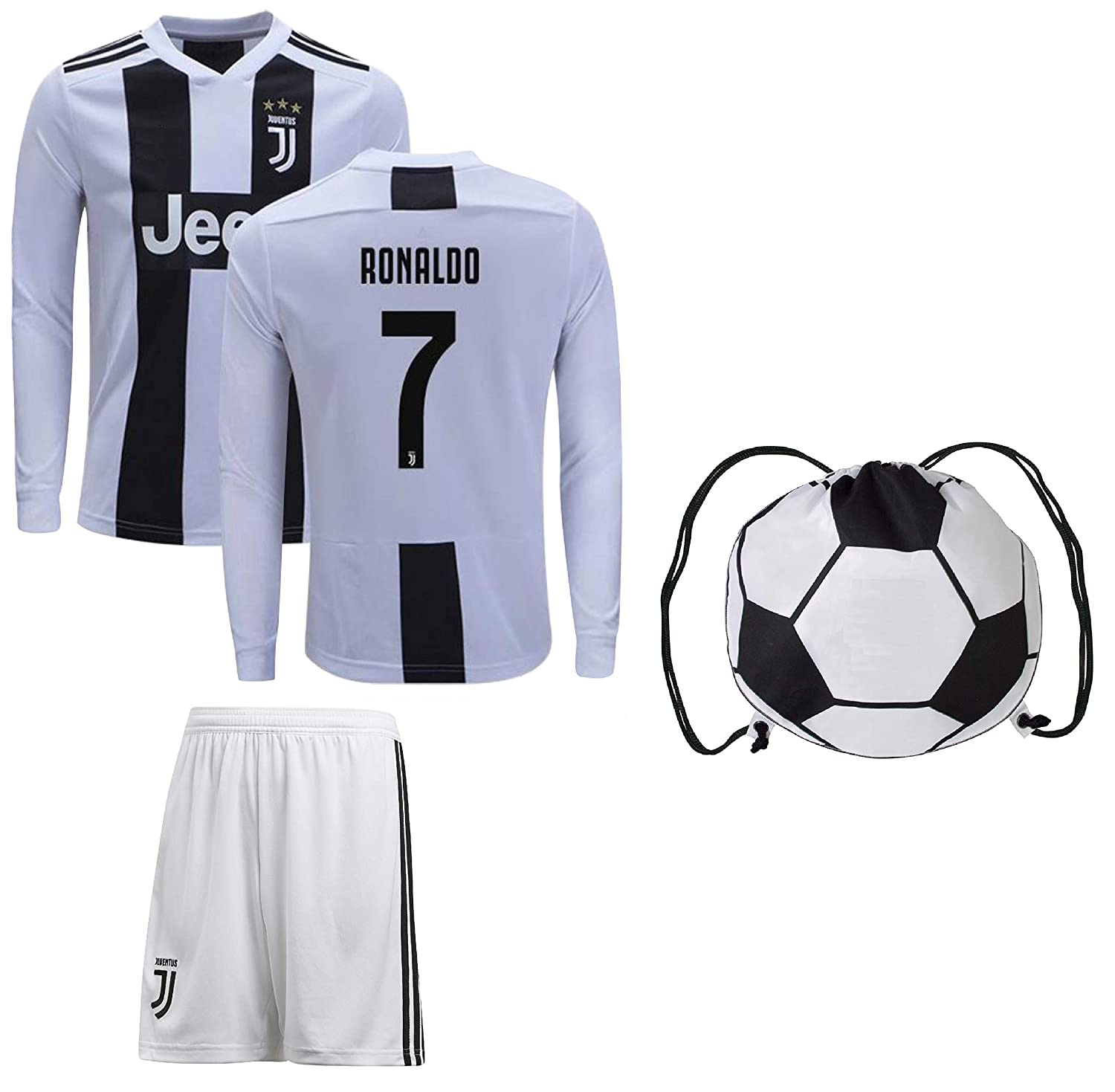 low priced 58e84 38d65 Juventus Cristiano Ronaldo Jersey #7 Youth OR Adult Soccer Gift Set ✓  Ronaldo Soccer Jersey ✓ Shorts ✓ Soccer Backpack ✓ Home or Away