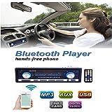 Audew 12V Autoradio Bluetooth Stéréo Voiture Récepteur Radio FM Lecteur MP3 Support Téléphone avec USB / SD MMC Port