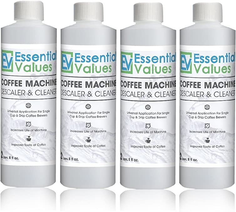 Essential Values Coffee Machine Descaling Solution (Pack of 4)