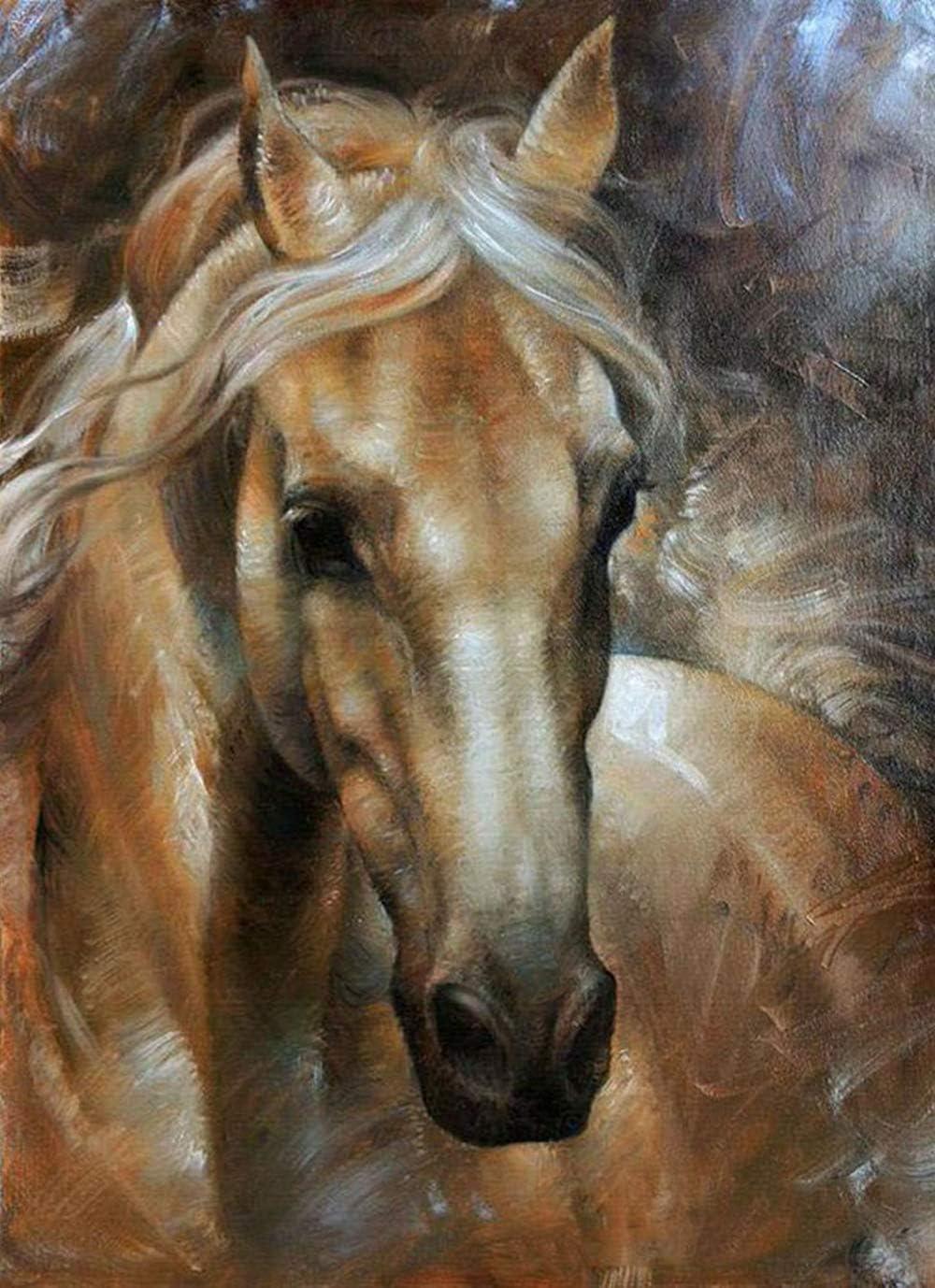 Kit de pintura de diamantes 5D para bricolaje,pinturas diy diseño de caballo de diamantes, diy pintura al oleo por numeros imitación, para decoración del hogar, 30 x 40 cm