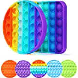CONQLOAD Pop Rainbow Square Round Fidget Toys,Push Pop Bubble Pure Relief Irritability Anti-Anxiety